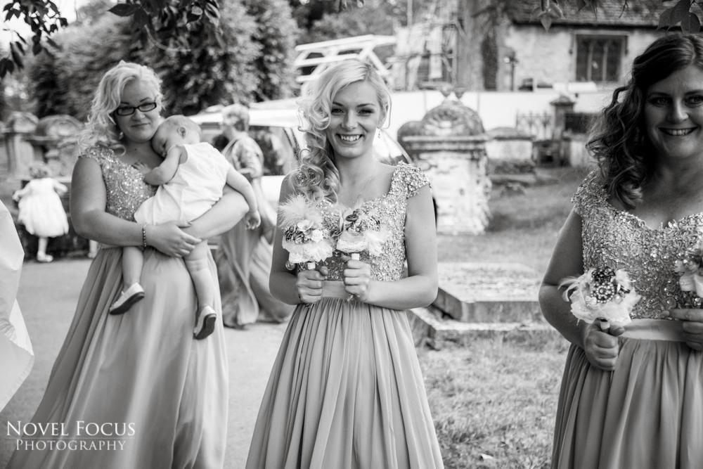 bridesmaid on wedding day
