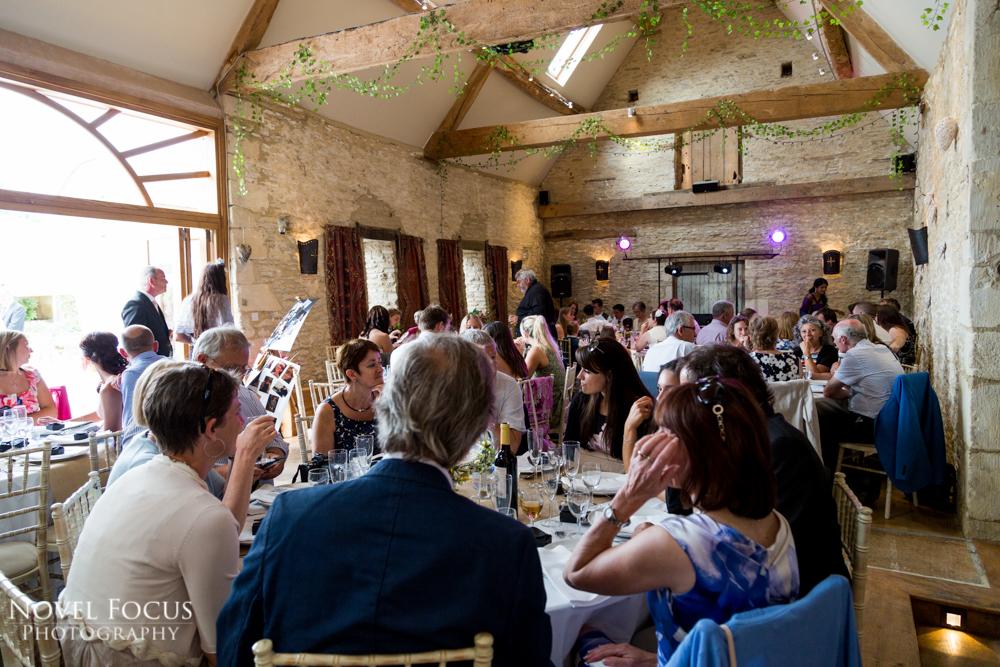 oxleaze barn wedding reception photographer