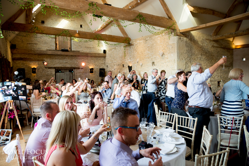 wedding reception photography in gloucestershire
