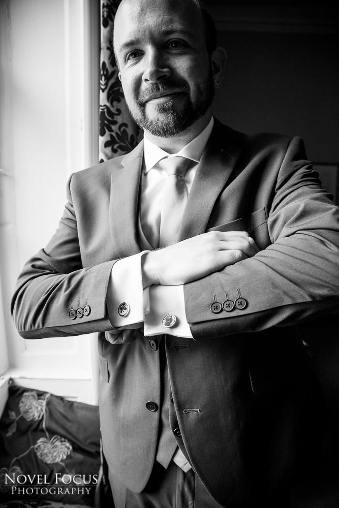 groom with cufflinks
