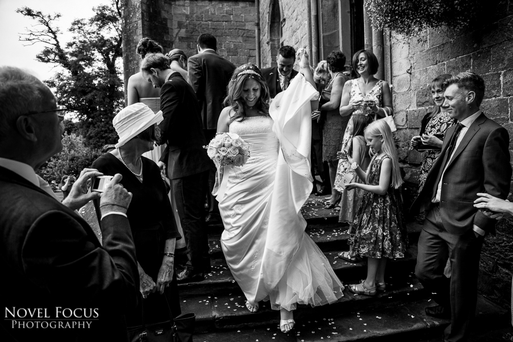 bride and groom at clearwell castle