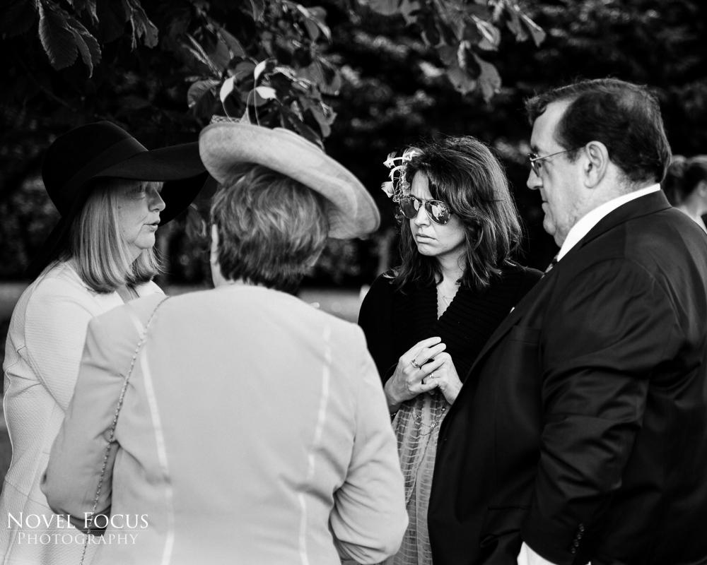 black and white wedding photograph