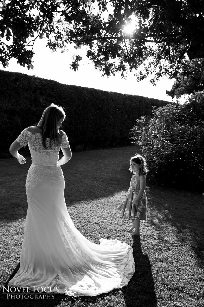 bride in wedding dress photograph