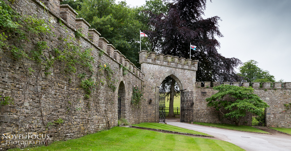 gate at clearwell castle from outside