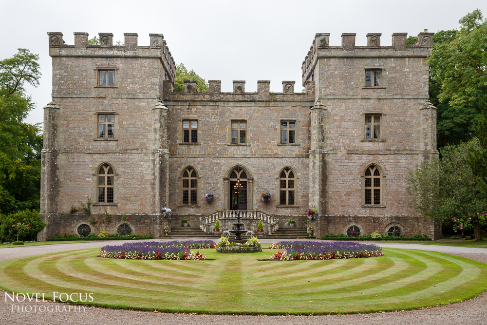 front lawn of clearwell castle