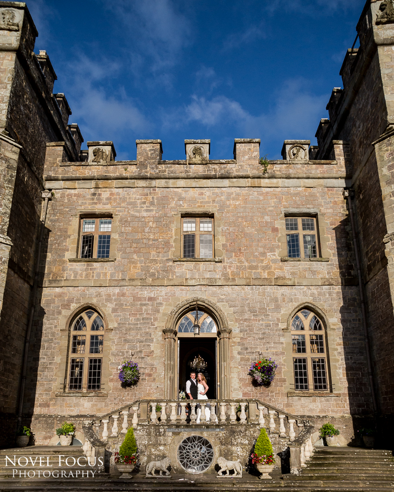 wedding photography of bride and groom at clearwell castle
