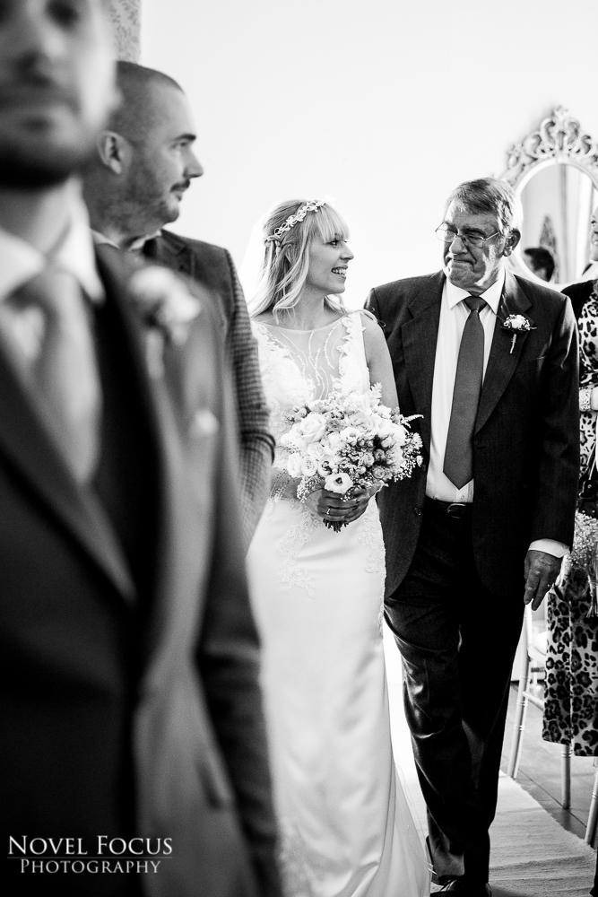father of bride looking at bride