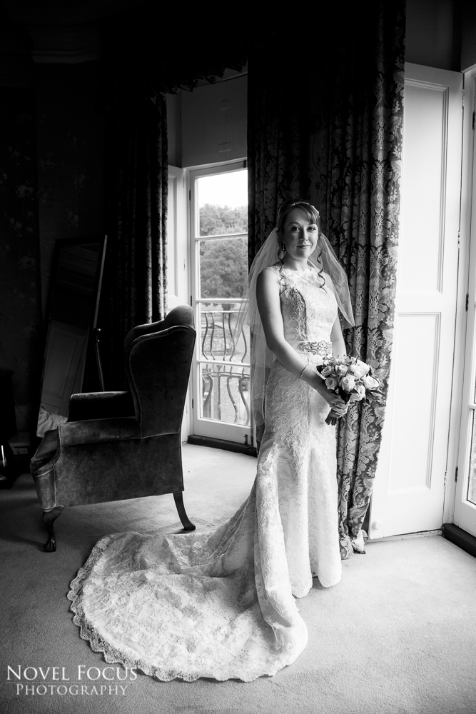 bride at wyck hill house photography