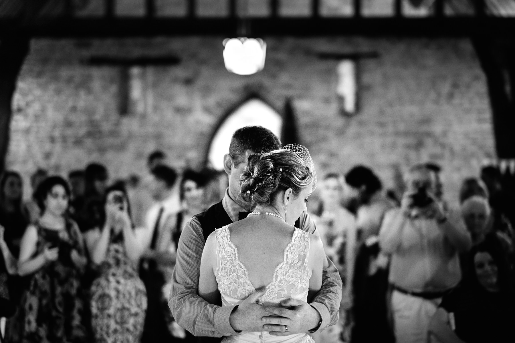 bride groom first dance wedding reception priors tithe barn