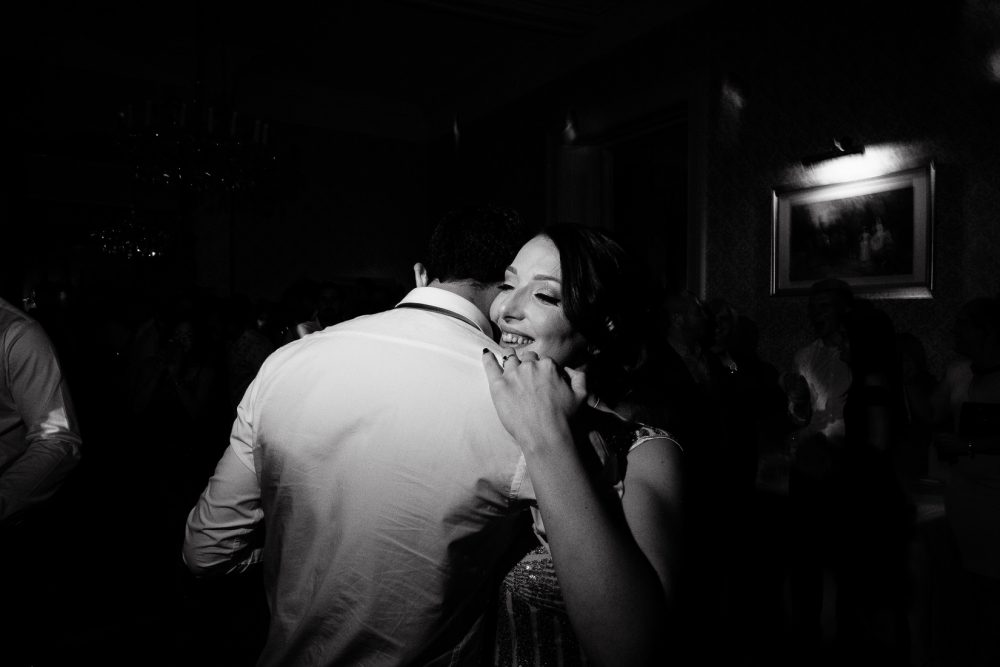 black and white reportage wedding photography in cheltenham