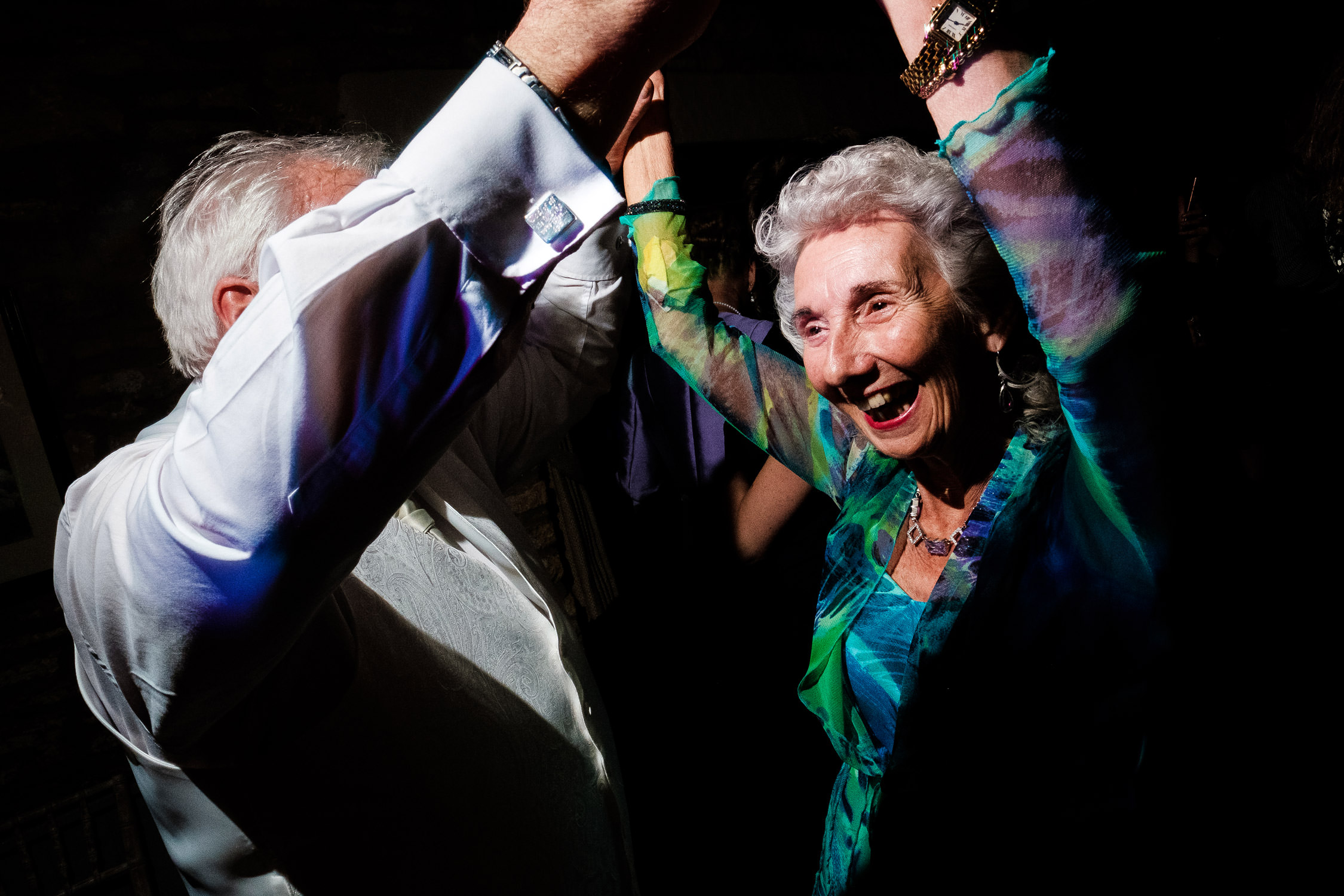 granny dancing at wedding reception