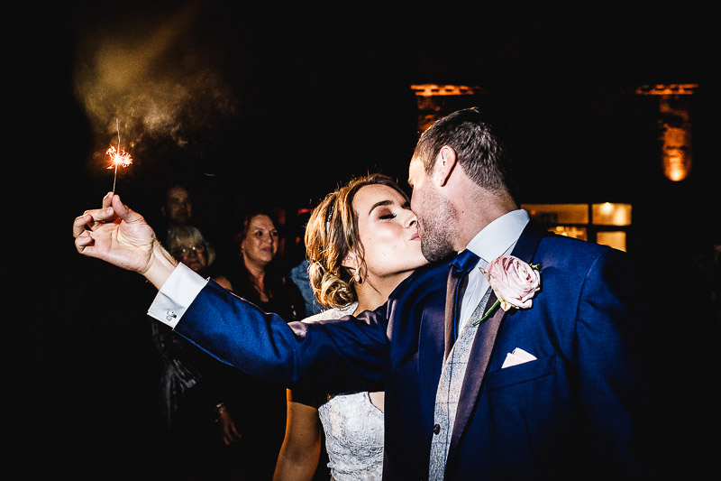 kissing with sparkler