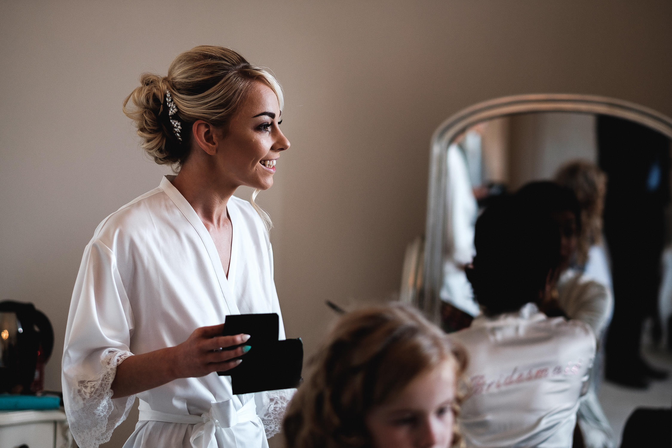 bride in bridal preparation
