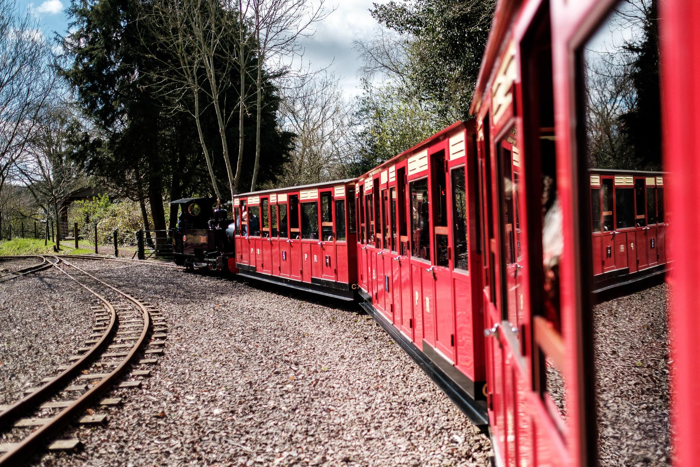 perrygrove railway train leaves station