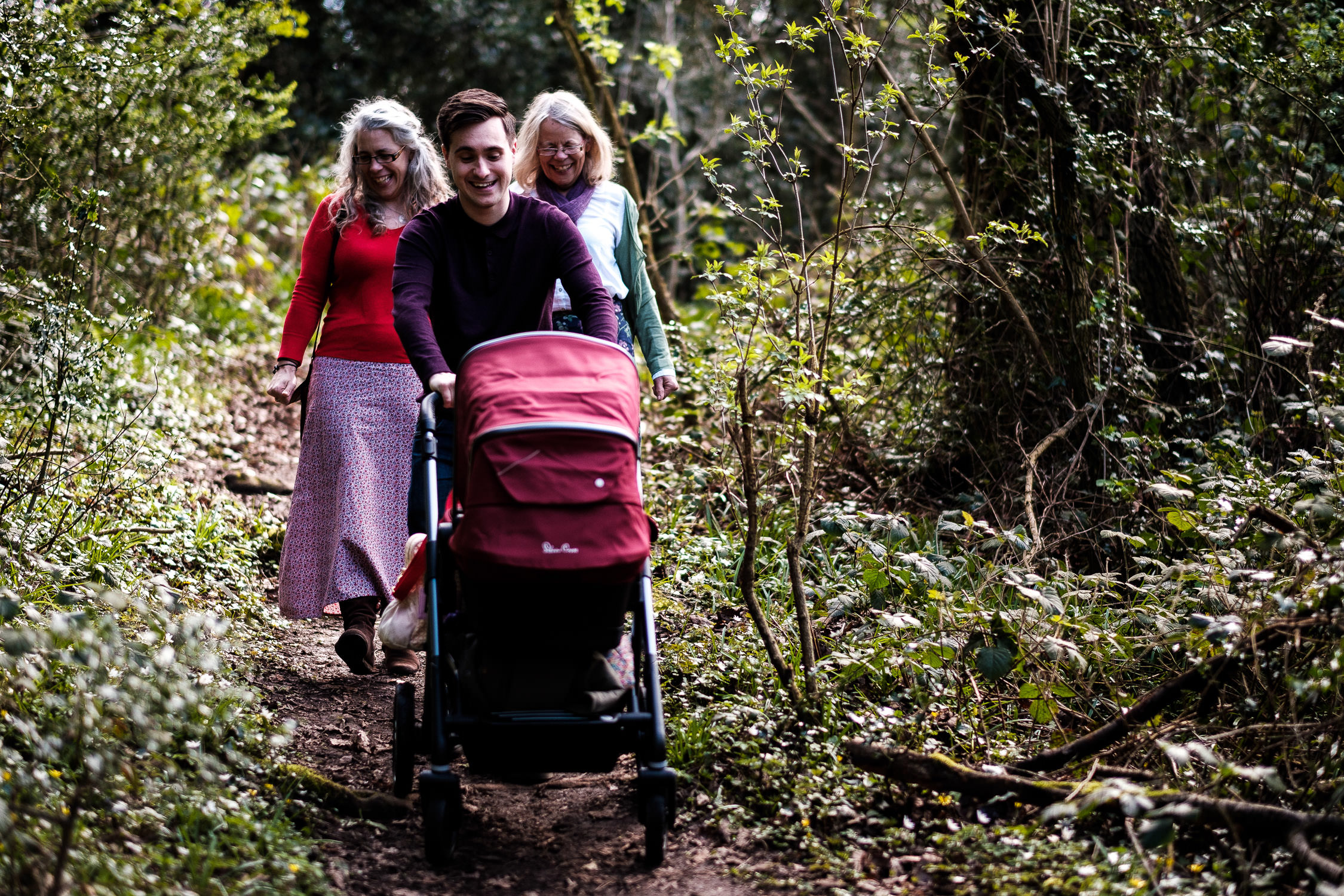 family photography walking through forest of dean
