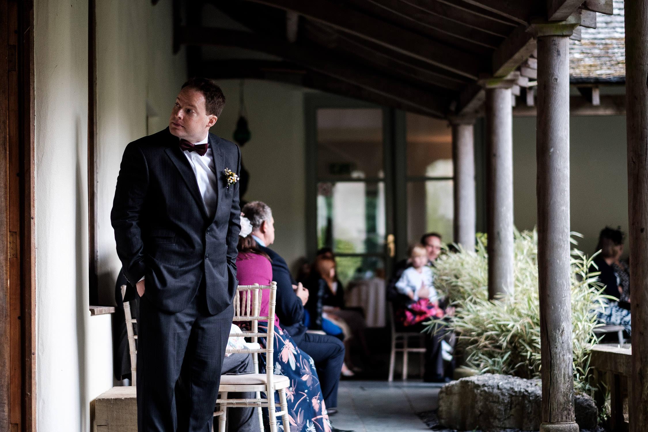 usher waiting before ceremony